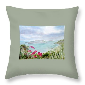Guana Island Throw Pillow