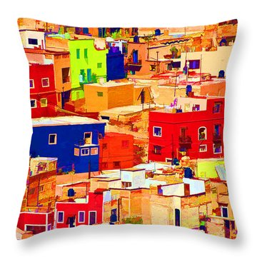 Guanajuato Color Throw Pillow by Dennis Cox WorldViews