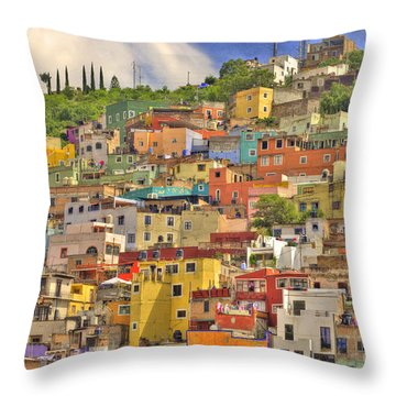 Guanajuato Hillside Throw Pillow