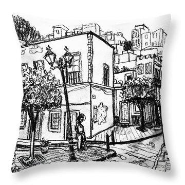 Guanajuato Street Throw Pillow by Rich Travis