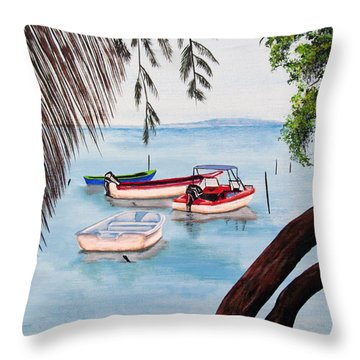 Guanica Bay Throw Pillow