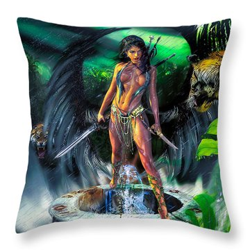 Guarded Treasure Throw Pillow