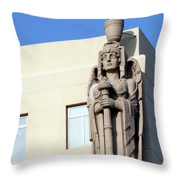 Guardian Angel And Blue Throw Pillow