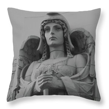 Guardian Angel On Watch Throw Pillow