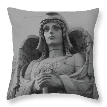 Guardian Angel On Watch Throw Pillow