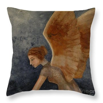 Guardian Angel Throw Pillow by Terry Honstead