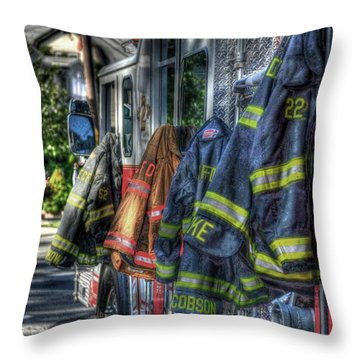 Guardian Angels Throw Pillow by Arnie Goldstein