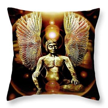 Guardian  Archangel Throw Pillow
