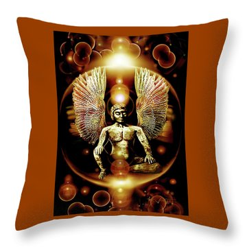 Guardian  Archangel Throw Pillow