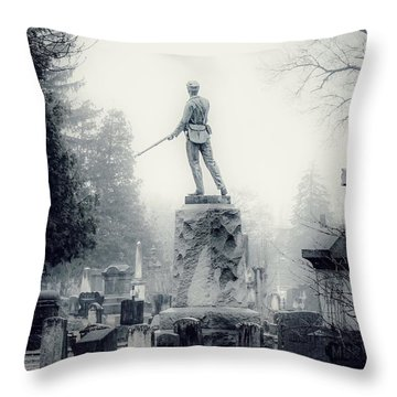 Throw Pillow featuring the photograph Guardian by Kendall McKernon
