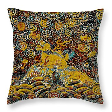 Guardian Of The Temple Throw Pillow