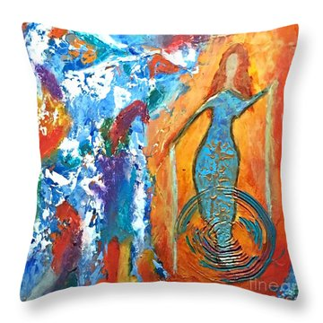 Guardian Of Rainbow Light Throw Pillow