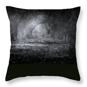 Guardian Of The Forest Throw Pillow by Mark Andrew Thomas