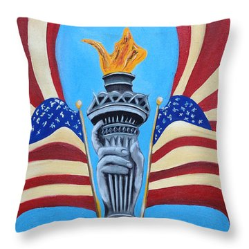 Guardian's Of Liberty Throw Pillow