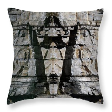 Guardians Of The Lake Throw Pillow by Cathie Douglas