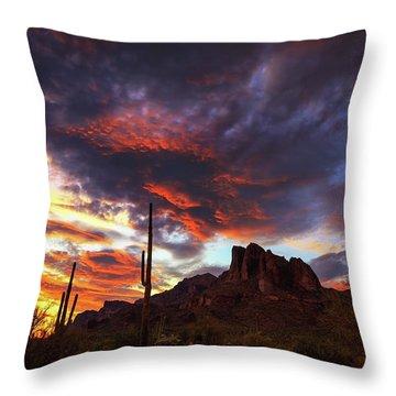 Guardians Of The Mountain Throw Pillow
