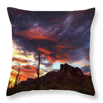 Guardians Of The Mountain Throw Pillow by Rick Furmanek