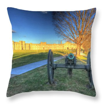 Guarding The Gate Throw Pillow