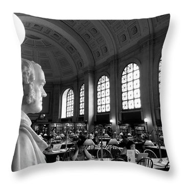 Guarding The Knowledge Throw Pillow