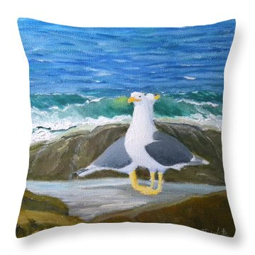 Guarding The Land And Sea Throw Pillow