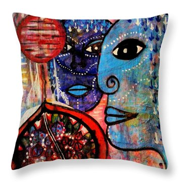 Guarding The Pomegranate Throw Pillow by Mimulux patricia no No
