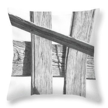 Guarding Time Throw Pillow