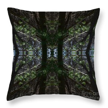 Guards Of The Forest Throw Pillow