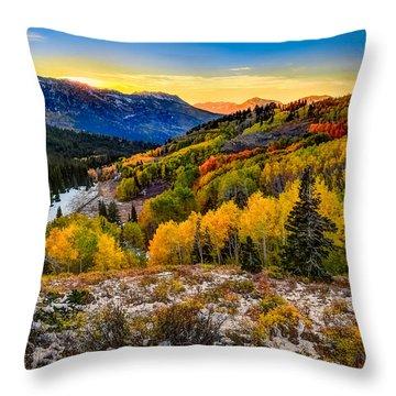 Guardsmans Pass Sunset Throw Pillow