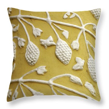 Guatemala Floral Detail Throw Pillow