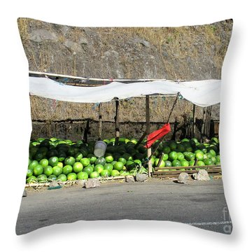 Guatemala Stand 2 Throw Pillow by Randall Weidner