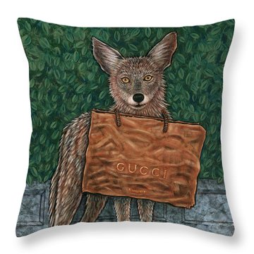 Gucci Coyote Throw Pillow