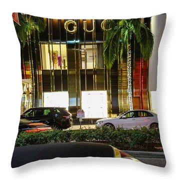 Throw Pillow featuring the photograph Gucci by Robert Hebert