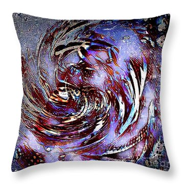 Guess Who Abstract Throw Pillow