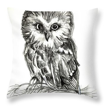 Guess Whoooo Throw Pillow