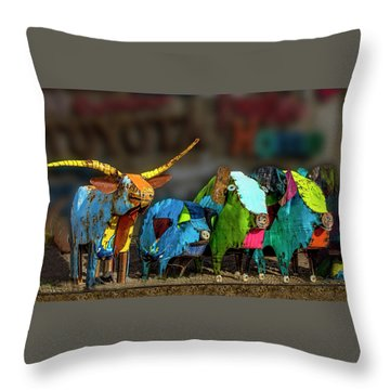 Throw Pillow featuring the photograph Guess Who's Coming To Dinner by Paul Wear