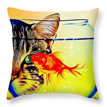 Guess Who's Coming To Dinner? Throw Pillow