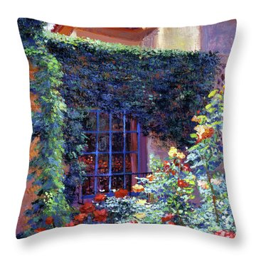 Guesthouse Rose Garden Throw Pillow