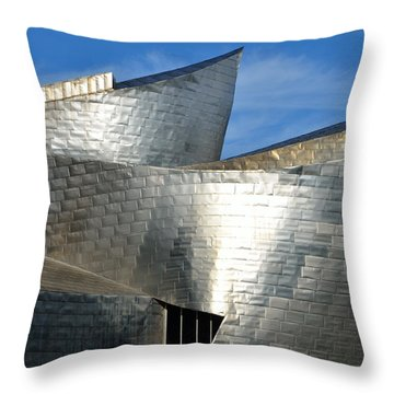 Guggenheim Museum Bilbao - 5 Throw Pillow by RicardMN Photography