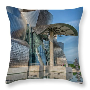 Guggenheim Museum Bilbao Spain Throw Pillow by James Hammond