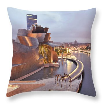 Guggenheim Museum Bilbao Spain Throw Pillow by Marek Stepan