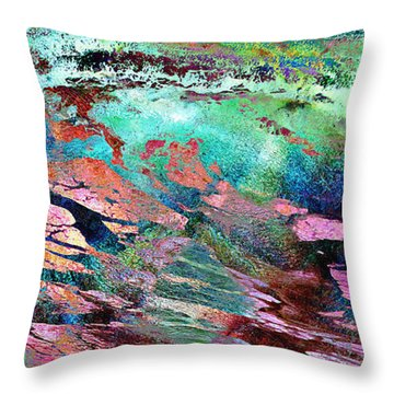 Guided By Intuition - Abstract Art Throw Pillow