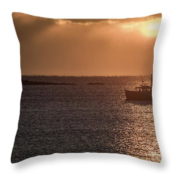 Guided By The Light Throw Pillow