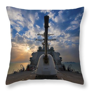 Guided-missile Destroyer Uss Higgins Throw Pillow by Stocktrek Images