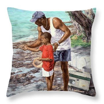 Guiding Hands Throw Pillow