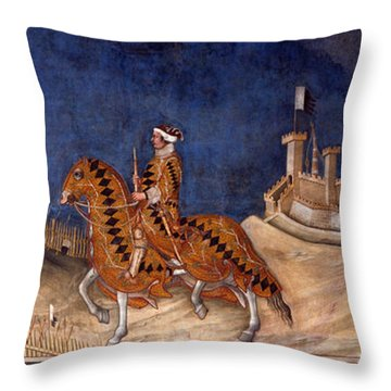 Guidoriccio Da Fogliano Throw Pillow