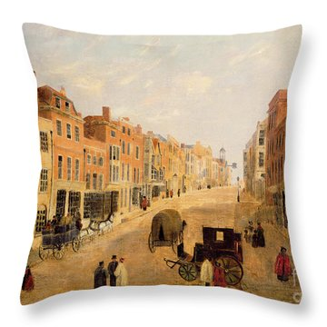 Guildford High Street Throw Pillow by English School