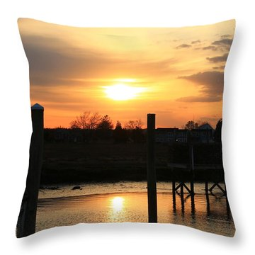 Guilford Low Tide Throw Pillow