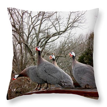 Guinea Foul Throw Pillow