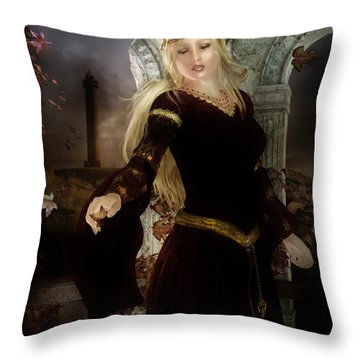 Guinevere's Tears Throw Pillow by Mary Hood