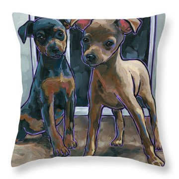 Guinness And Bailey Throw Pillow by Nadi Spencer